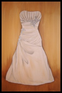 Custom Wedding Gown Painting, Alexis Martinez Puleio