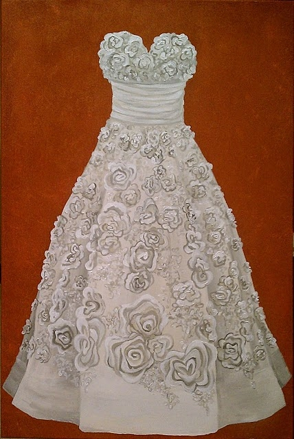 Alexis Martinez Puleio, Wedding Dress Painting
