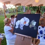Almost done painitng white orchid painting
