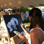 Painting white orchid painting for Gulfshore Life White Party