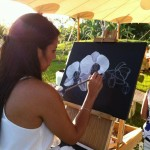White Orchid Painting - Naples Botanical Gardens