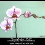 Blooming Hope, Resin White Orchid Painting, Third On Canvas Alexis Martinez Puleio