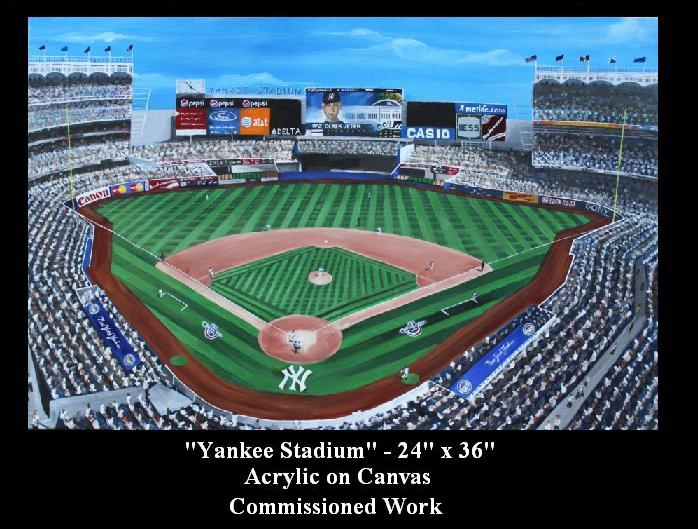 Yankee Stadium Painting