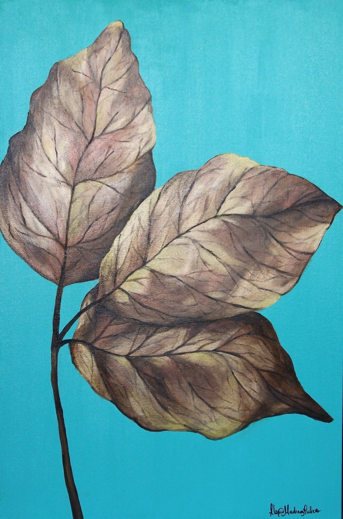 Copper Leaf Painting