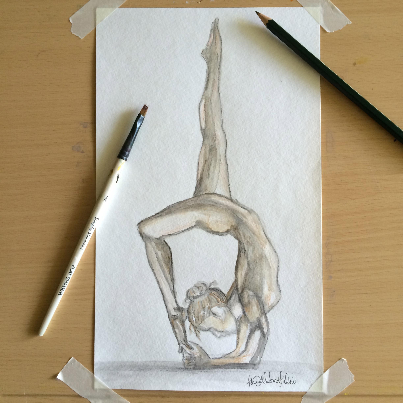 fc4404f05be3 yoga drawing « Custom Art By Alexis